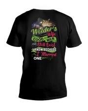 Cute Welder's Lady V-Neck T-Shirt tile