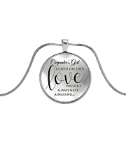 Cute Carpenter's Lady Metallic Circle Necklace front