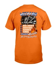 Mechanic - Straight Hustle All Day Everyday Classic T-Shirt back