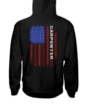 American Flag Carpenter Tool Pattern Hooded Sweatshirt thumbnail