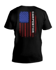 American Flag Carpenter Tool Pattern V-Neck T-Shirt thumbnail