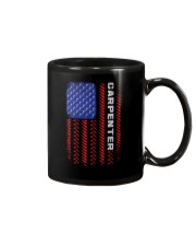 American Flag Carpenter Tool Pattern Mug thumbnail