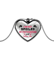 Cute Photographer's Lady Metallic Heart Necklace front