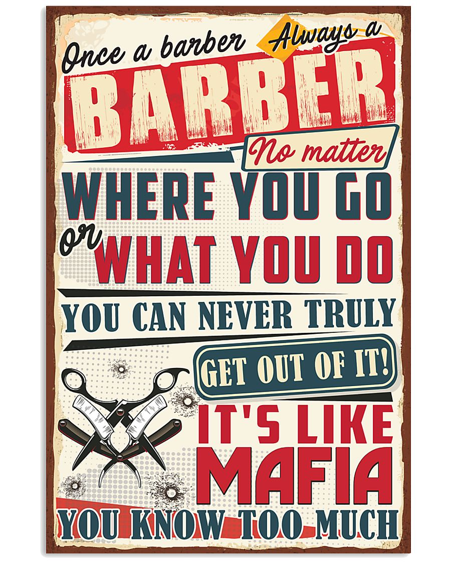 Truly Barber 11x17 Poster