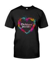Childcare Provider Color Splash Heart  Classic T-Shirt thumbnail