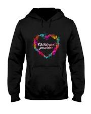 Childcare Provider Color Splash Heart  Hooded Sweatshirt thumbnail
