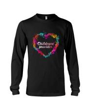 Childcare Provider Color Splash Heart  Long Sleeve Tee thumbnail