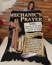 "Mechanic's Prayer Large Fleece Blanket - 60"" x 80"" aos-coral-fleece-blanket-60x80-lifestyle-front-04"