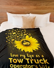 """Love my Tow Truck Operator's Wife Life  Large Fleece Blanket - 60"""" x 80"""" aos-coral-fleece-blanket-60x80-lifestyle-front-02"""