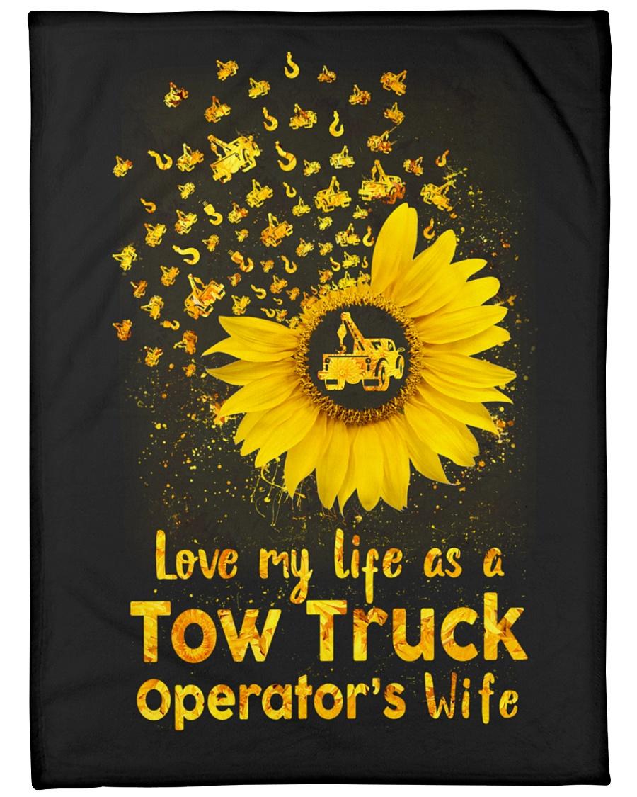 "Love my Tow Truck Operator's Wife Life  Large Fleece Blanket - 60"" x 80"""