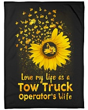 """Love my Tow Truck Operator's Wife Life  Large Fleece Blanket - 60"""" x 80"""" front"""