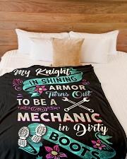 """Mechanic's Lady Large Fleece Blanket - 60"""" x 80"""" aos-coral-fleece-blanket-60x80-lifestyle-front-02"""