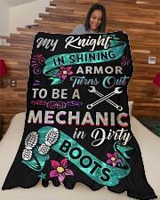 """Mechanic's Lady Large Fleece Blanket - 60"""" x 80"""" aos-coral-fleece-blanket-60x80-lifestyle-front-04"""
