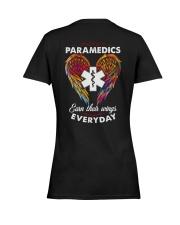 Paramedic Earn Their Wings Everyday  Ladies T-Shirt women-premium-crewneck-shirt-back