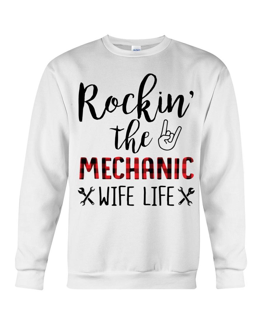 Rockin the Mechanic Wife Life Crewneck Sweatshirt