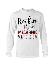 Rockin the Mechanic Wife Life Long Sleeve Tee thumbnail