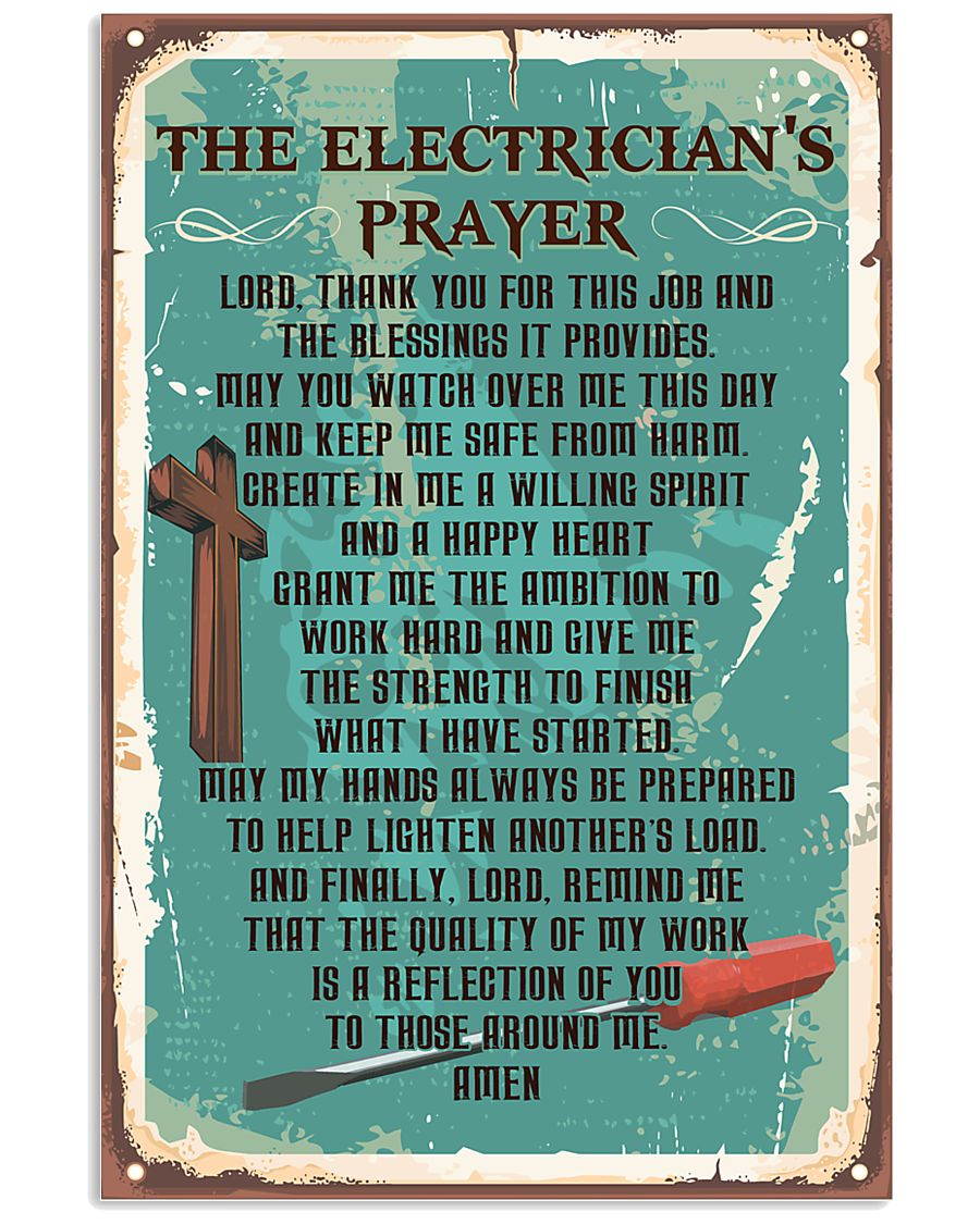 Electrician Prayer 11x17 Poster