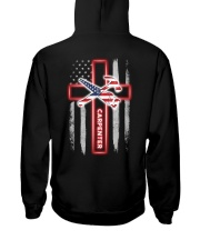 American Flag With Cross Carpenter Hooded Sweatshirt thumbnail