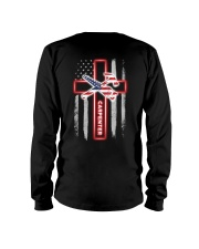 American Flag With Cross Carpenter Long Sleeve Tee thumbnail