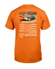 Electrician Hourly Rate Shirt and Hoodie  Classic T-Shirt back