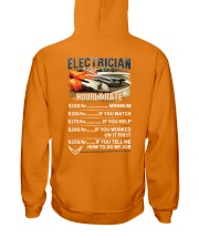 Electrician Hourly Rate Shirt and Hoodie  Hooded Sweatshirt thumbnail