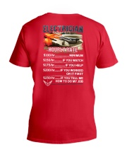 Electrician Hourly Rate Shirt and Hoodie  V-Neck T-Shirt thumbnail