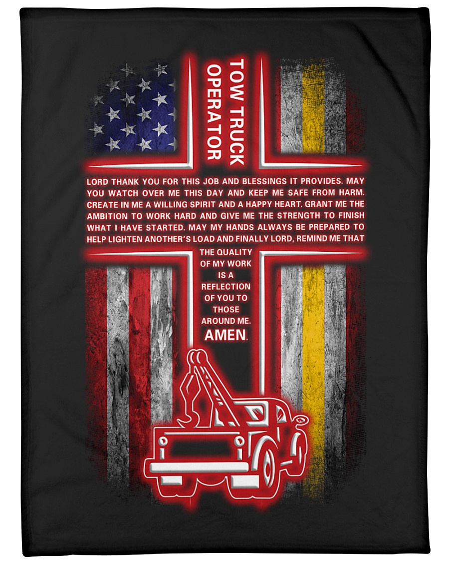 "Tow Truck Operator Large Fleece Blanket - 60"" x 80"""
