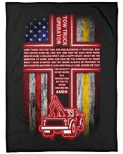 "Tow Truck Operator Large Fleece Blanket - 60"" x 80"" front"