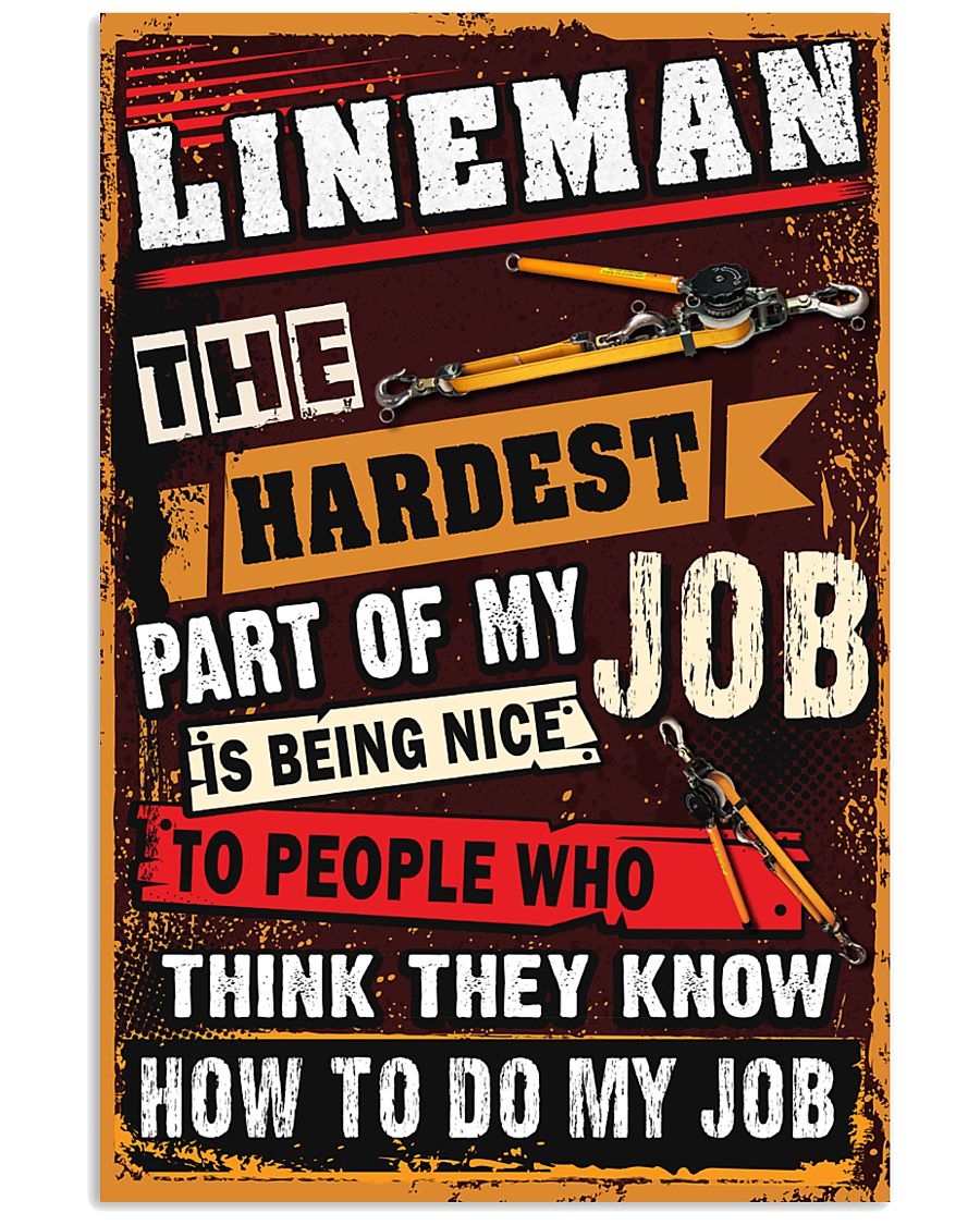 Awesome Lineman's Canvas and Posters 11x17 Poster