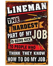 Awesome Lineman's Canvas and Posters 11x17 Poster front