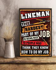 Awesome Lineman's Canvas and Posters 11x17 Poster lifestyle-poster-3
