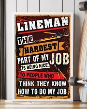 Awesome Lineman's Canvas and Posters 11x17 Poster lifestyle-poster-4