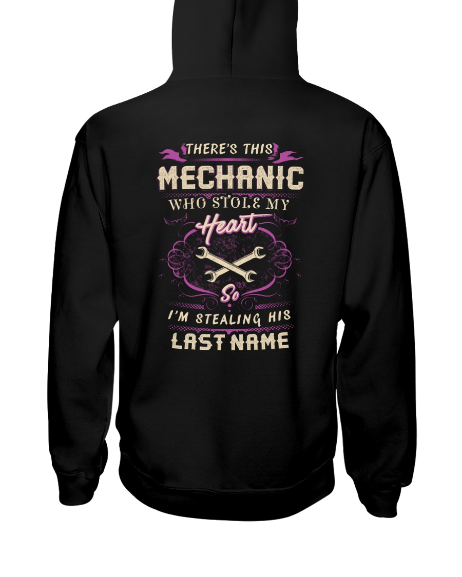 Stolen Heart By Mechanic Hooded Sweatshirt