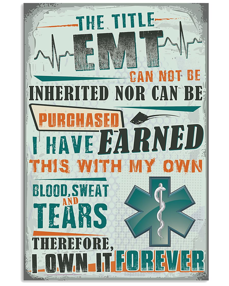 I Own the Title EMT 11x17 Poster