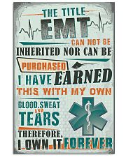 I Own the Title EMT 11x17 Poster front