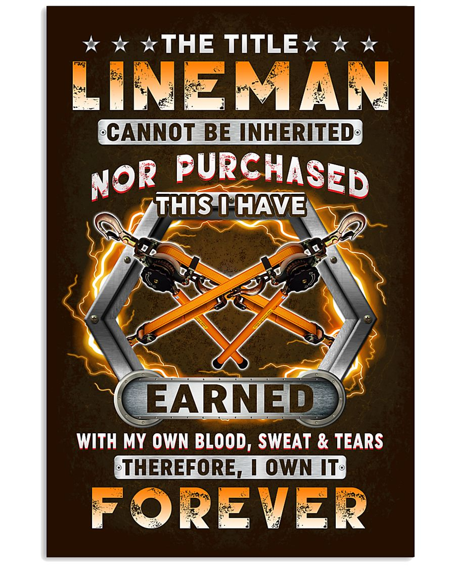 The Title Lineman Own it Forever 11x17 Poster