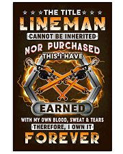 The Title Lineman Own it Forever 11x17 Poster front