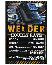 Welder's Hourly Rate 11x17 Poster front
