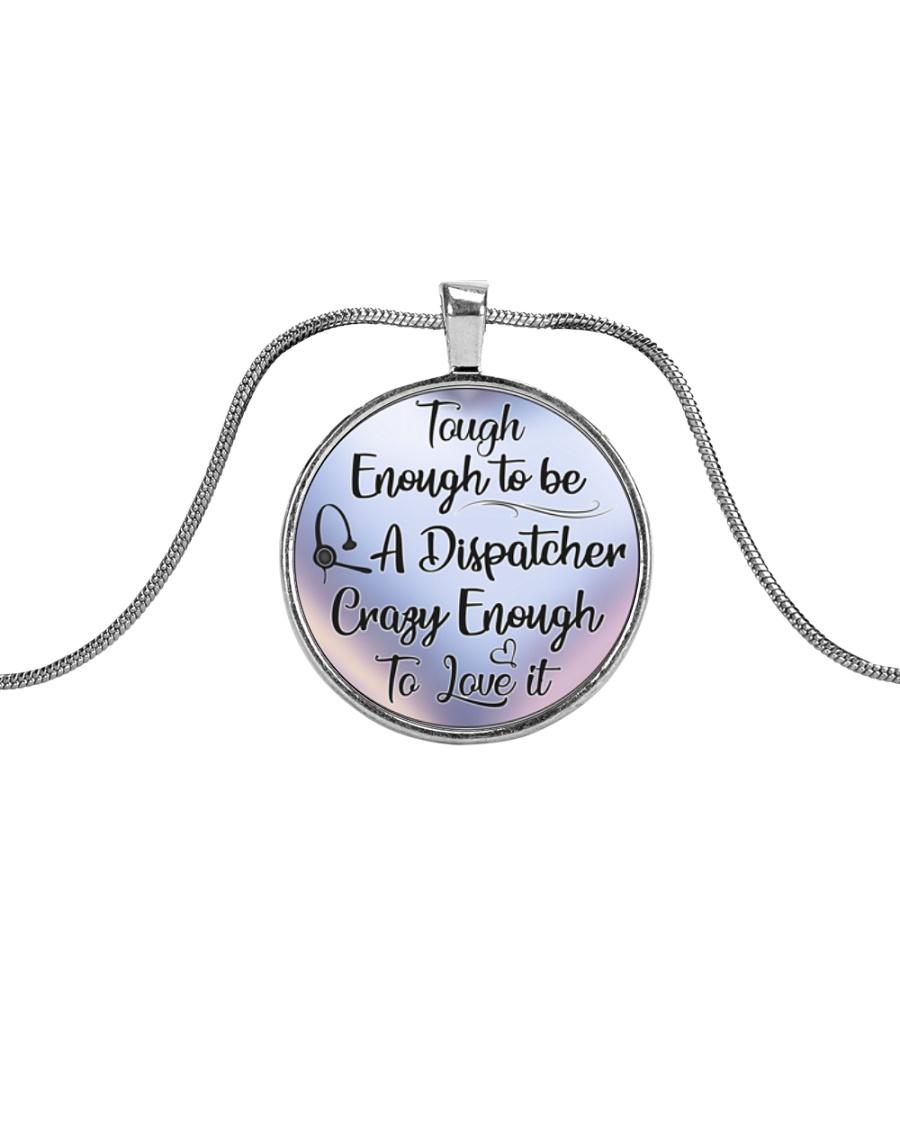 Proud Dispatcher's Metallic Circle Necklace