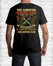 Awesome Carpenter Shirt Classic T-Shirt lifestyle-mens-crewneck-back-1