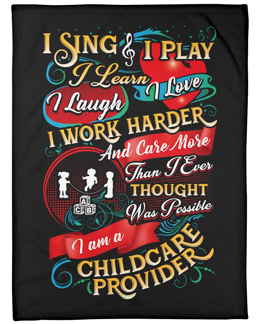 "I am A Childcare Provider Large Fleece Blanket - 60"" x 80"""