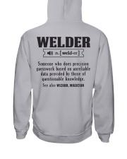 Welder  Christmas Special Hooded Sweatshirt back