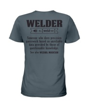 Welder  Christmas Special Ladies T-Shirt tile