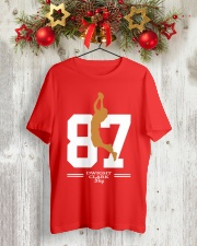Dwight Clark Day 87 T-Shirt Classic T-Shirt lifestyle-holiday-crewneck-front-2
