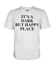 It's A Dark But Happy Place T-Shirt V-Neck T-Shirt thumbnail
