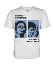 Respect Existence Or Expect Resistance T-Shirt V-Neck T-Shirt thumbnail