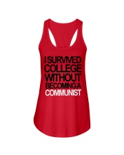 I Survived College Without Communist Shirt Ladies Flowy Tank thumbnail