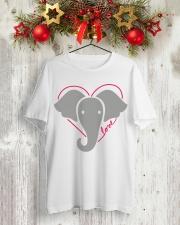 Ellen Save The Elephants Shirt Classic T-Shirt lifestyle-holiday-crewneck-front-2