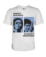 Respect Existence Shirt Yara Shahidi V-Neck T-Shirt thumbnail
