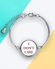 i dont care song shirt Metallic Circle Bracelet aos-bracelet-metal-front-lifestyle-5